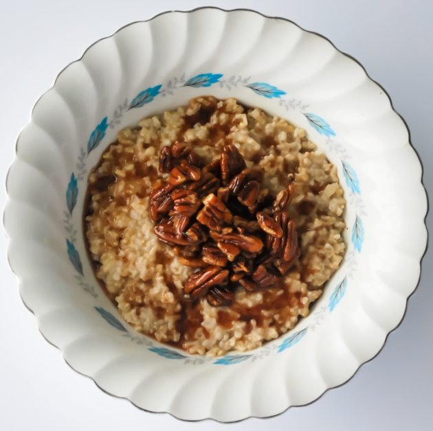 Toasted Maple Pecan Oats